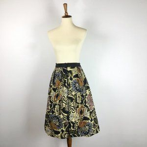 TopShop Damask tapestry midi skirt Size 8